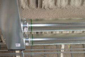 green seam snap lock pipe